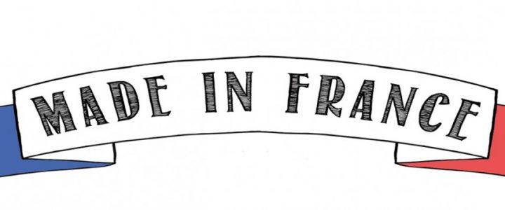 dessin d'une banderole avec écrit dessus made in france