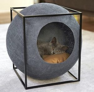 couchage pour chat de designer appelé le cube